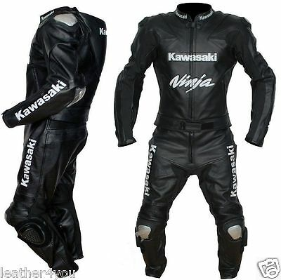 Kawasaki Ninja Motorbike Leather Suit Moto Gp Motorcycle Leather Jacket Trouser