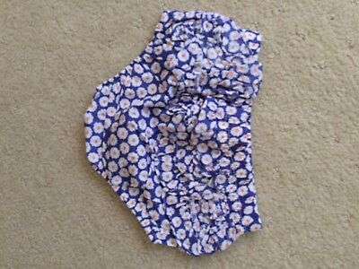 Sprout Baby Girls Nappy cover 0 blue white floral ruffle pants bottoms bloomers