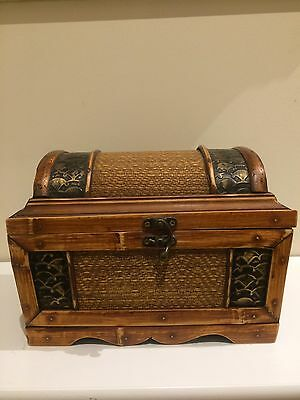 Vintage Wooden Jewellery Box Hand Made Local Perth Artist