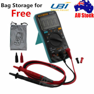 Digital LCD Multimeter Backlight AC/DC Auto Range Ohm Ammeter Frequency Tester