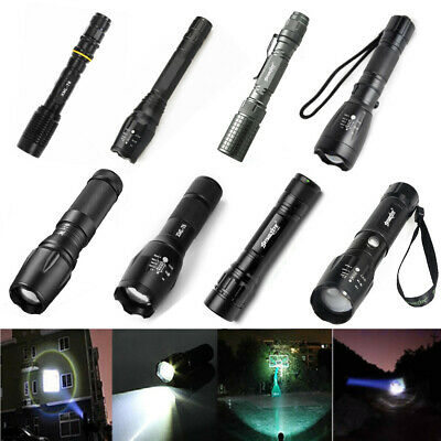Torcia Tattica Militare Led T6 Bici Zoom Focus Luce Lampada Lanterna Flashlight