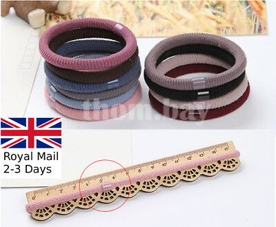 10/20/50 Stretchy Hair Bobbles Quality Girl's Hairbands Ponytail Thick Elastic