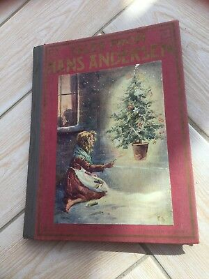 Hans Andersen vintage fairy tale book with colour plates