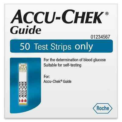 Accuchek Guide BGlucose Test Strips (1 cannister of 50 strips)