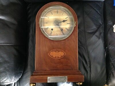 Rare Antique French Marti Medaille Strikeing Tall Mantle Clock