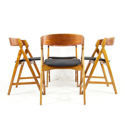 Set of 4 Retro Vintage Danish Henning Kjaernulf Teak Dining Chairs 50s 60s 70s