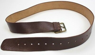 Genuine Swiss Army Leather Trouser Belt With Brass Buckle 32-36 Inches
