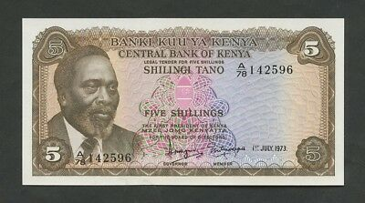 KENYA - 5 sh  1973  P6d  Uncirculated  (World Paper Money)