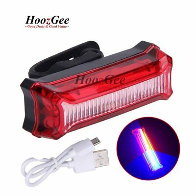 USB Rechargeable LED Bike Bicycle Cycling Rear Tail Lights Back Lamp Waterproof