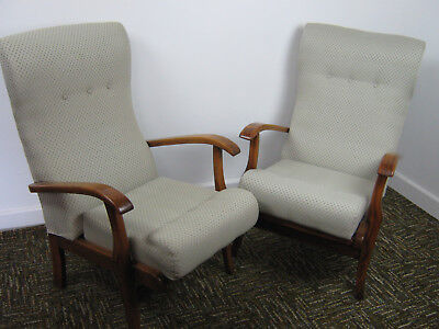 Retro Lounge Chairs Pair Vintage Armchairs Cintique Parker Knoll style Northants