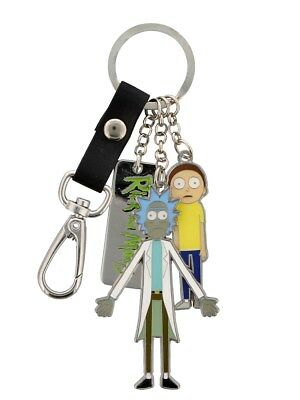 Rick and Morty Character Charms Metal Keyring