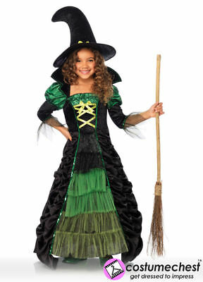 7-10 years Storybook Witch Girls Long Dress by Leg Avenue