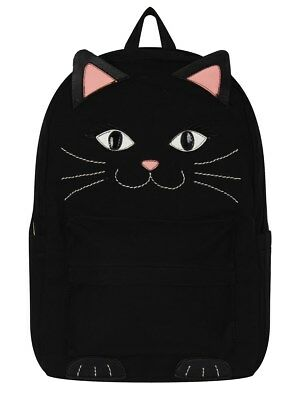 Comeco Inc. Kitten Black Canvas Backpack