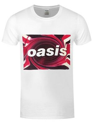 Oasis Swirl Logo Men's White T-shirt