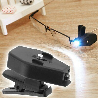 Universal Adjustable LED Glass Eyeglass Clip On Mini Book Reading Light Lamp Top