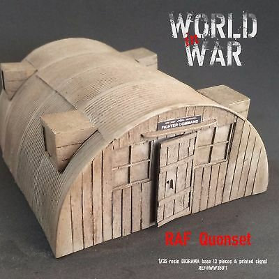 "1/35 Diorama base WW2 / WWII - ""RAF QUONSET HUT"" - resin model kit"