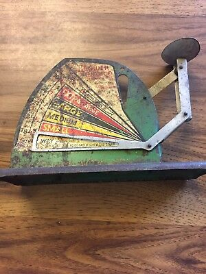 Jiffy Way Antique Brower Mfg Co. Chicken Hen Weight Egg Scale Quincy, IL