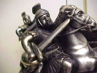 Pair (2) of Mid Century 1960's Roman Soldier Men on Horse Bookends - From Spain