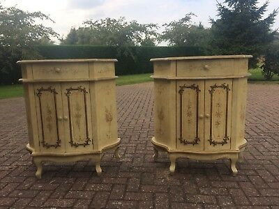 Vintage Hand Painted Cabinets (pair)