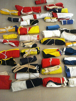 LOT OF 100 PIECES VINTAGE Naval Signal Pennants -  SHIP'S 100% ORIGINAL