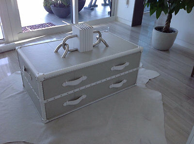 Grey/White Steam Trunk Coffee Table