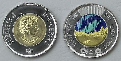Kanada / Canada 2 Dollars 2017 150 Jahre Kanada glow-in-the-dark Farbmünze unz.