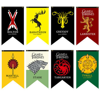 Game of Thrones House Banner Flag - Stark Targaryen Lannister Tyrell Bolton Flag