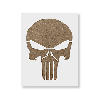 Punisher Stencil - Reusable Stencil of the Punisher Skull in Small & Large Sizes