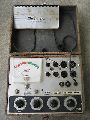 1970's B&K Model 600 Dyna-Quik Tube Selector / Tester Made in Chicago Illinois