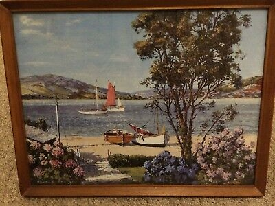 """Garden on the Estuary"" by Donald Greig - Framed Print"