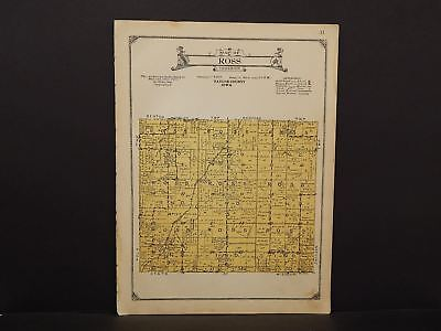 Iowa Taylor County Map Ross Township 1923  W13#60