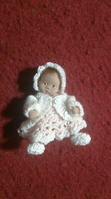 Karensminibears Ooak miniature baby doll 12th dollhouse toddler clay artist