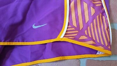 Nike womens XL purple running athletic yoga gym shorts. EUC
