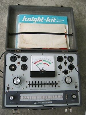 1960's  Allied Radio Knight KG-600B Tube Tester with Manuals - Bench Test