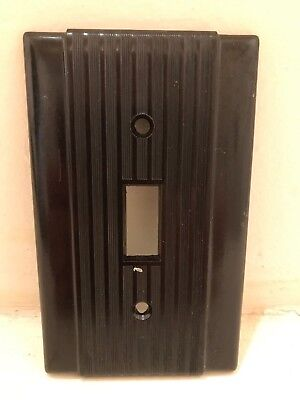 Vintage NOS Uniline Brown Bakelite Light Switch Plate - Mid Century, Art Deco