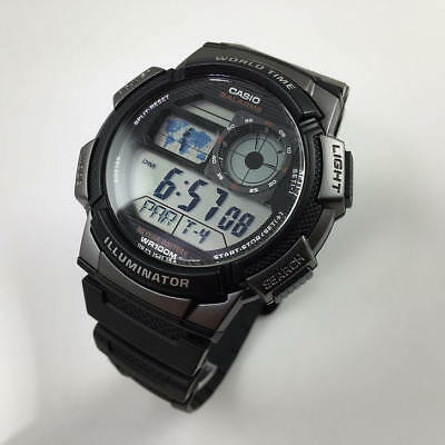 Men's Casio World Time Digital Sport Watch AE1000W-1BV
