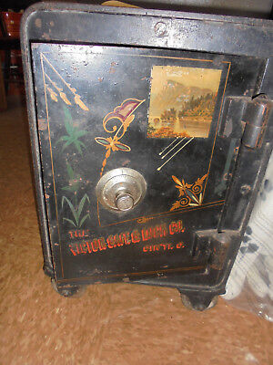Antique Victor Floor Safe-Small Size