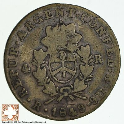 1849 Argentina 4 Reales *8767