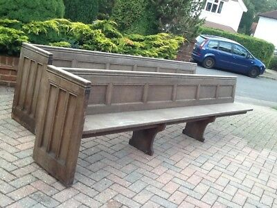 church pews 10ft long, original  restoration project