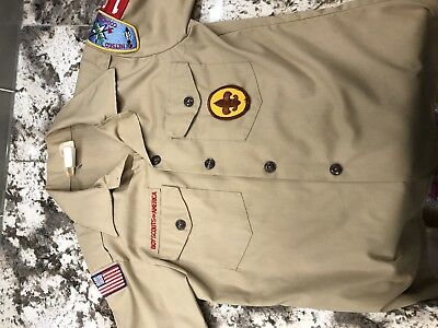 boy scout uniform shirt youth large