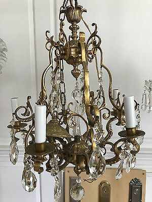 Antique Gold plated Over Bronze Chandelier