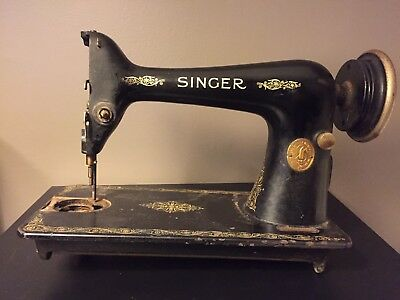 Vintage 1927 Singer Model 66 Sewing Machine, As Is For Parts