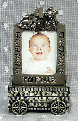 Baby Photo Frame and Trinket Box - Pewter