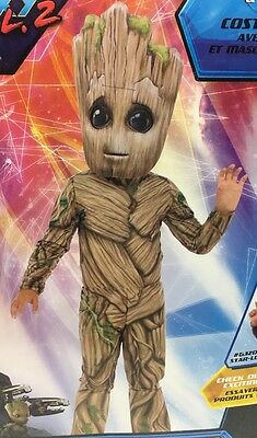 marvel guardians of the galaxy Vol 2 Groot Child Dress Up Set:  Size Small 4-6