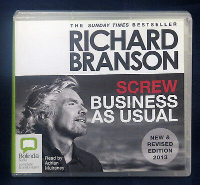 Screw Business as Usual by Richard Branson (9 CD Audio Set)