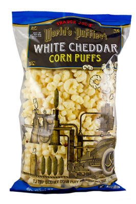 New Sealed Trader's Joe Worlds's Puffiest White Cheddar Corn Puffs 7 Oz