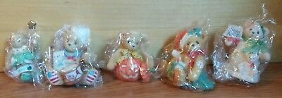 Lot Of 5 New Cherished Teddies In Boxes  1993-2X 2001-2002-2003