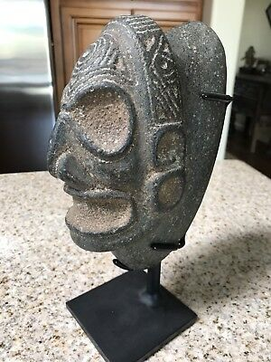 Large Precolumbian Stone Taino Zemi In Skull Form