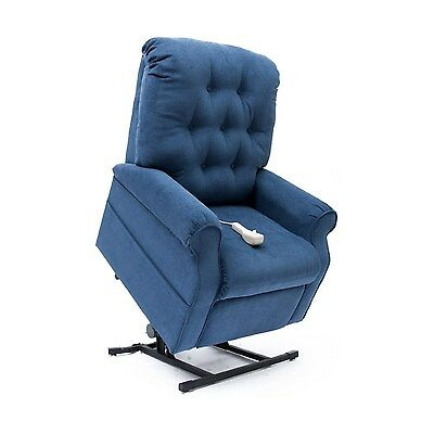 New Navy Blue Easy Comfort LC-200 Power Electric Lift Chair Mega Motion Recliner