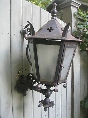 Antique Gothic Victorian Steampunk Gas Wall Sconce Lantern Light Lamp Fixture